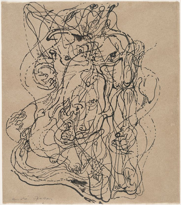 """""""Automatic Drawing"""", 1924.  André Masson. Automatic Drawing"""