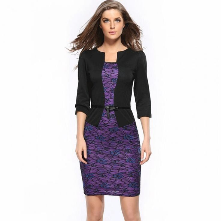 Fashion Women Retro Vintage Faux Two Piece Dress Elegant Lady Plaid Long Sleeve Pencil Dress Office Wear Outfits Plus Size