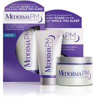 Mederma® PM Intensive Overnight Scar Cream Works at night, when skin regenerates faster.