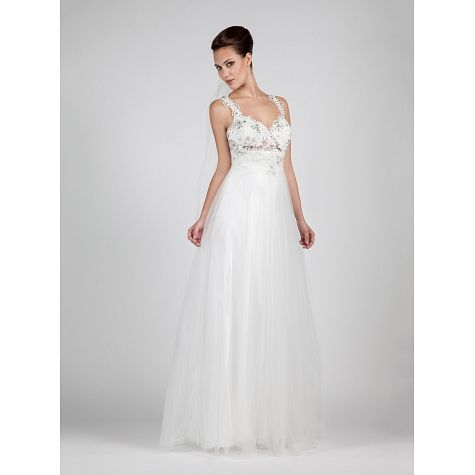 Wedding dress long with tulle