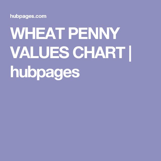 WHEAT PENNY VALUES CHART | hubpages
