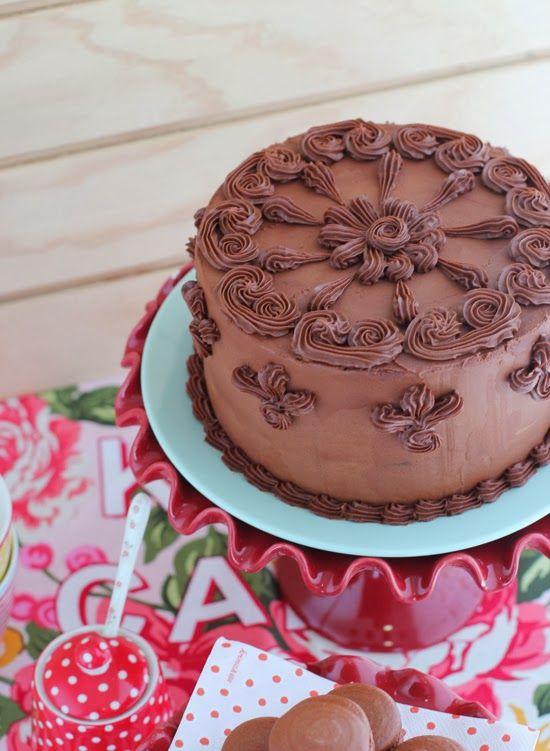 Adicción por el chocolate: Tarta - Megasilvita crema de chocolate