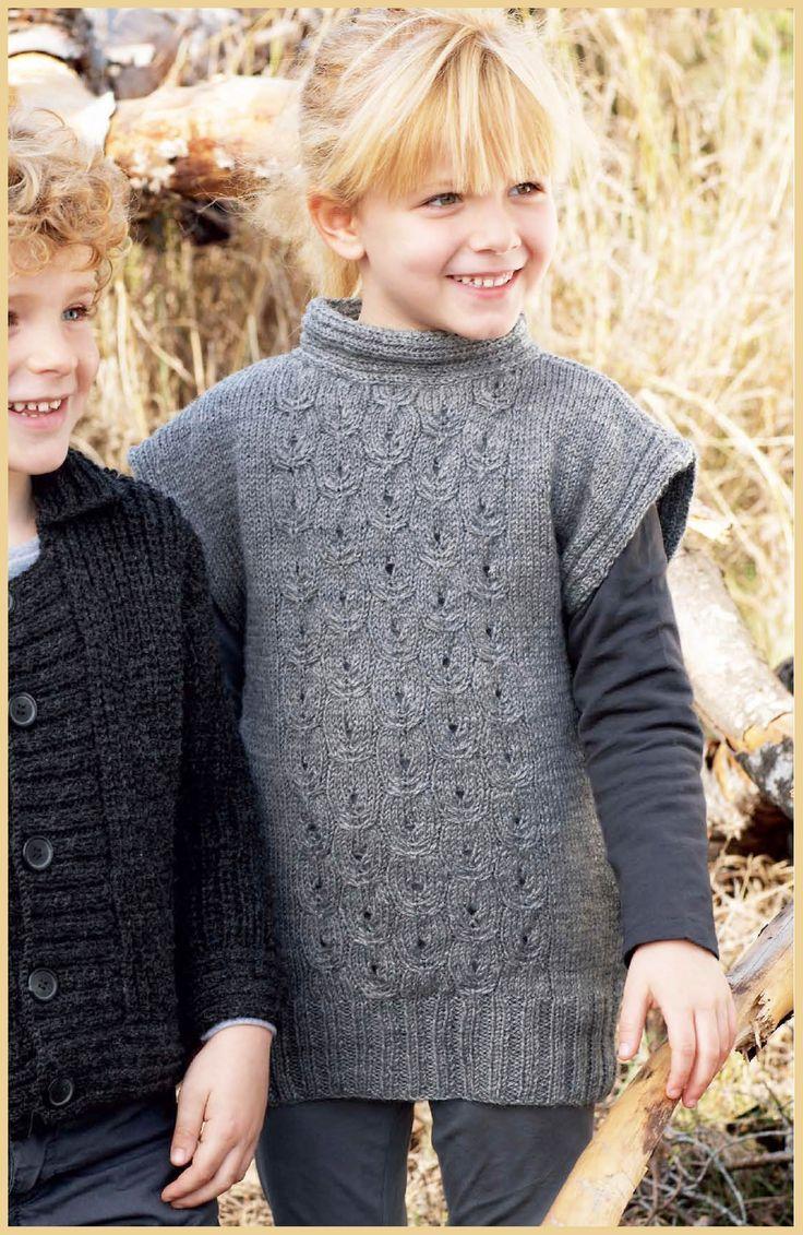 patrón vestido de niña de lanas katia