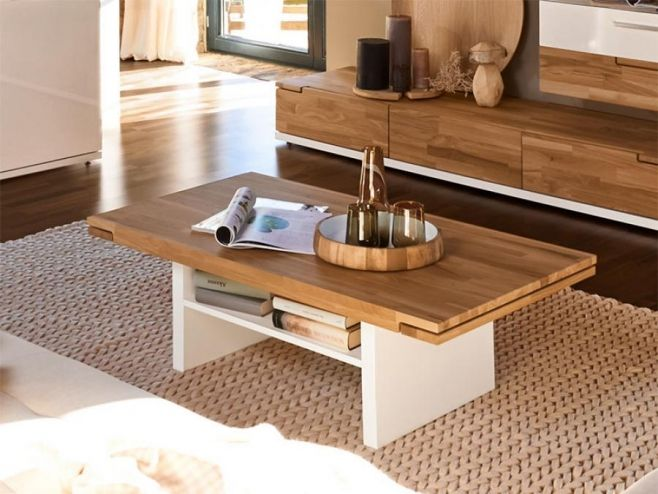 Arte M Feel Solid Oak And White Or Grey Contemporary Coffee Table.  #modernfurniture