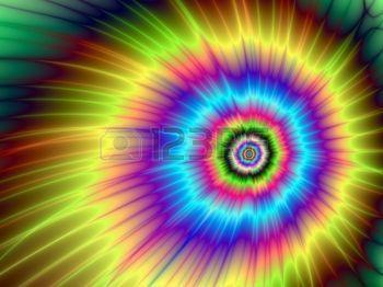 tie barvivo: Color Explosion Tie-DyedDigital abstraktní obraz s tie-barviva výbuchu barevného provedení v žlutá, modrá, fialová, zelená a červená Reklamní fotografie
