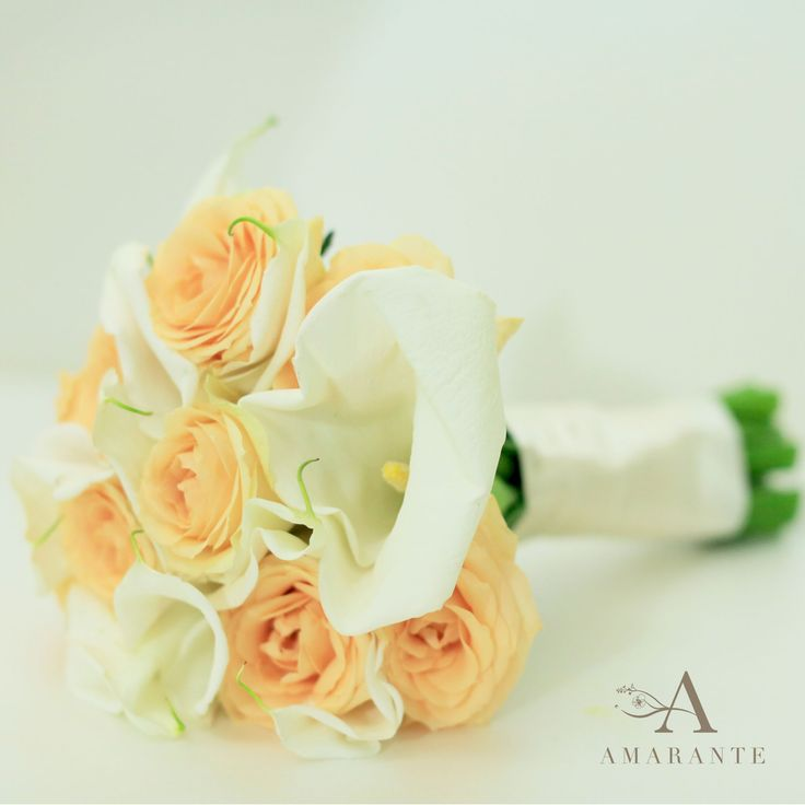Calla Lily & Rose wedding bouquet by Amarante Flower Boutique