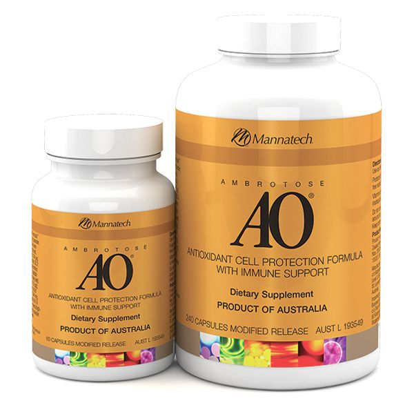 Ambrotose AO® | Mannatech  Antioxidants are an essential part of our diet and important for maintaining health. Mannatech's AO product is a powerful, advanced formula that offers over 2 ½ times more antioxidant protection than five servings of fruits and vegetables.   http://au.mannatech.com/real-products/health/ambrotose-ao/