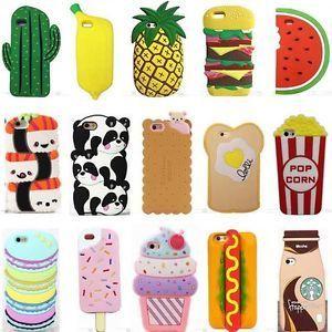 3D Cartoon Hot Cute Kawaii Food Silicone Phone Case Cover Back For Various Phone  | eBay
