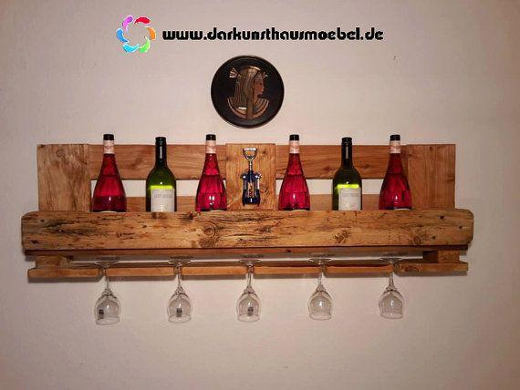 Furniture from pallets - wine shelf