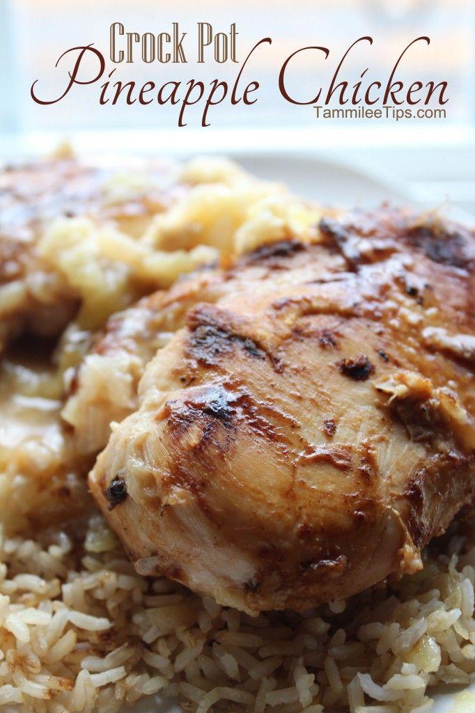 Crock Pot Pineapple Chicken Recipe sometimes known as Crock Pot Hawaiian Chicken