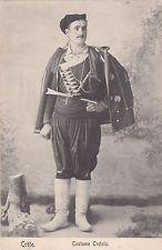 GREECE VINTAGE CRETE POSTCARD 1900 - 1910 'COSTUME CRETOİS' EDT:THEOPHANUS