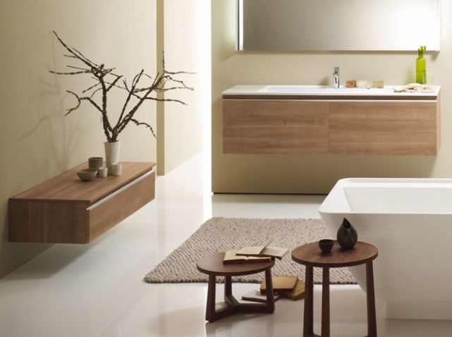 Salle de bain beige brossette salle de bain pinterest salle de bain beige salle de bain for Petite salle de bain zen et naturelle