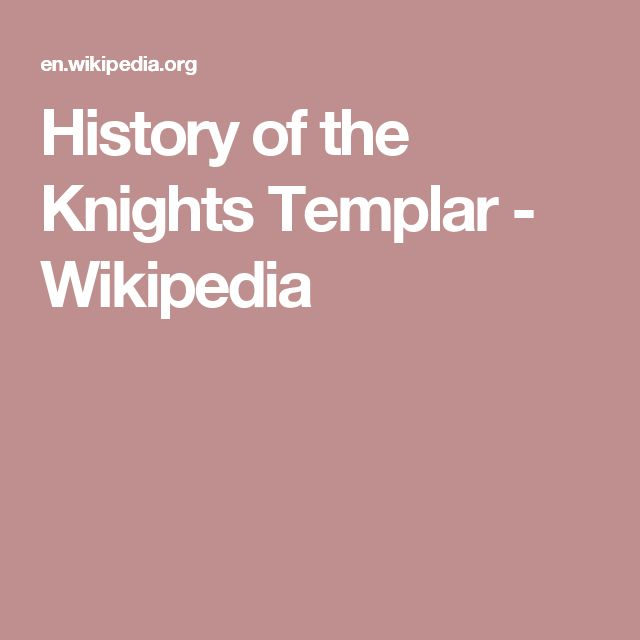 History of the Knights Templar - Wikipedia