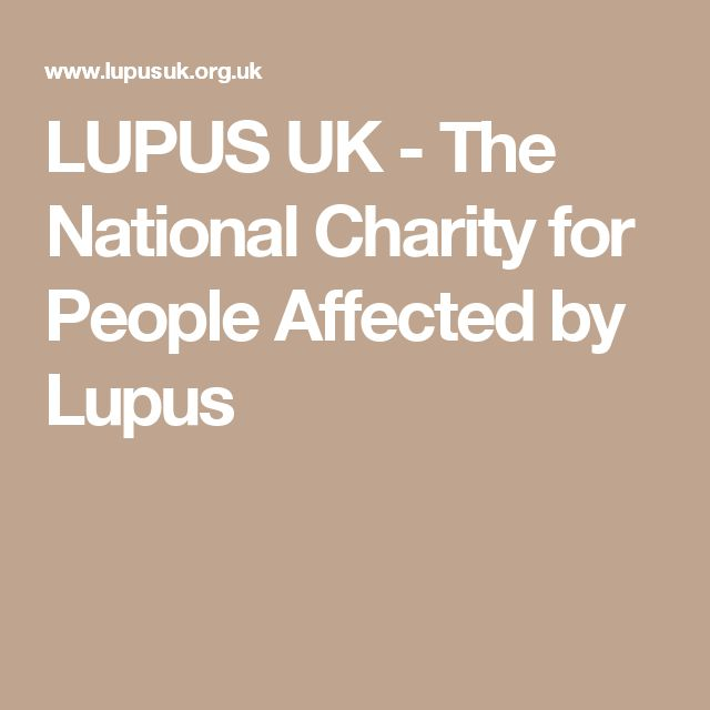 LUPUS UK - The National Charity for People Affected by Lupus