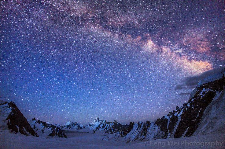 Milky Way Above The 16 Kilometer Wide Snow Lake Surrounded By The Karakoram Mountains | Snow Lake Karakoram Pakistan | By Feng Wei [1200x800]