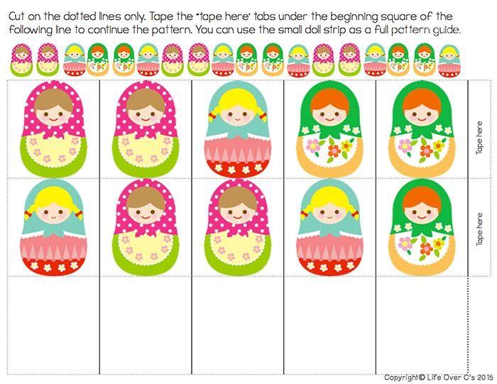 Free Matryoshka Pattern Printable for Kids