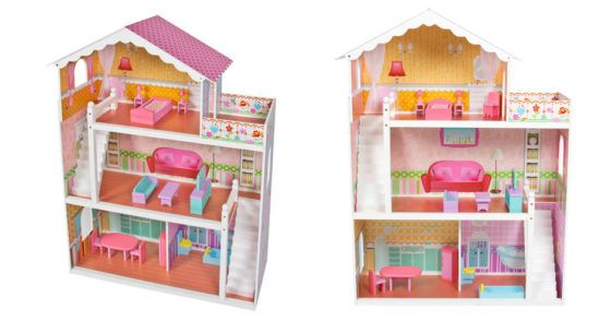 Large Childrens Wooden Dollhouse Fits Barbie Doll House $79.99 (Reg $200)  Every little girl wants a dollhouse  Have you seen the size of this doll house? Huge discount when your get thisLarge Childrens Wooden Dollhouse Fits Barbie Doll House at Walmart today. youll save up to a whopping $120 when you get one now!  Large Childrens Wooden Dollhouse Fits Barbie Doll House $79.99 (Reg $200)  ade of MDF carb P2 and pine wood  Non-toxic environmental friendly design  3 stories featuring a…