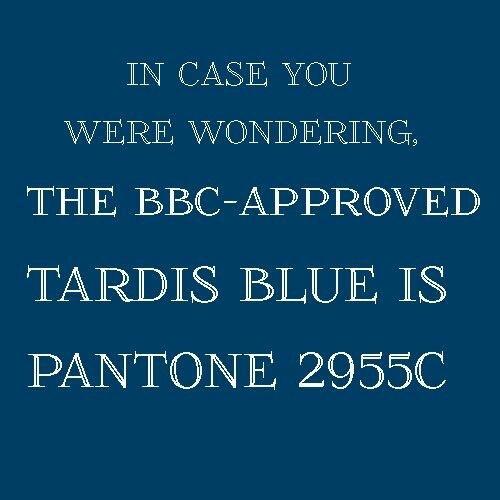 TARDIS paint color code