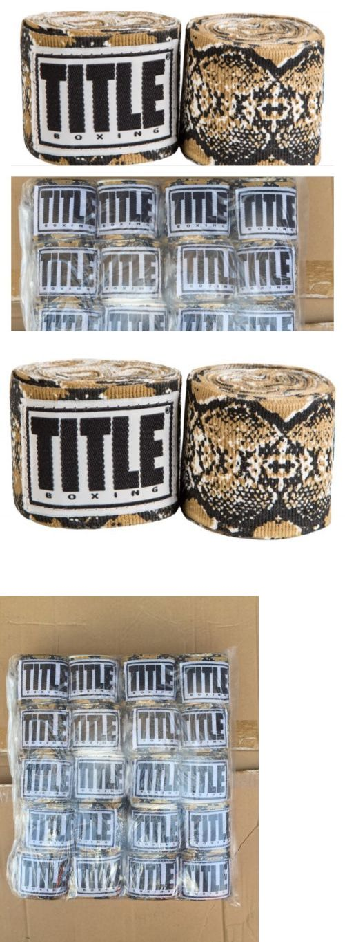 Hand Wraps 179779: 10 Pairs Title Boxing Hand Wraps Python Snake Print 180 Semi Elastic -> BUY IT NOW ONLY: $85.14 on eBay!