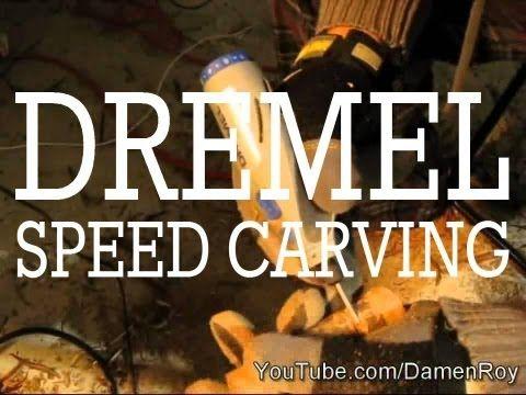 Dremel Stylus - Speed Carving - Wood Rose - Time Lapse