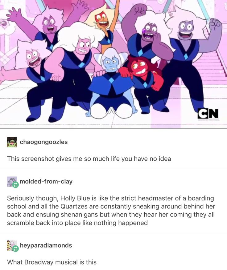 U know... Just warning I'll break ur heart here so fair warning.... Those amethyst will probably be shattered for insubordination. Or since holy blue can't say that for some other reason