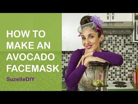 SuzelleDIY - How to Make an Avocado Facemask - YouTube