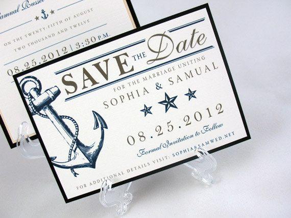 Wedding Save the Date - Nautical, Sailing, Ocean. $2.50, via Etsy.