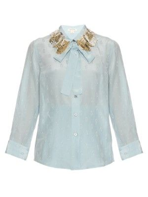 Sequin-embellished collar jacquard blouse | Marc Jacobs | MATCHESFASHION.COM UK