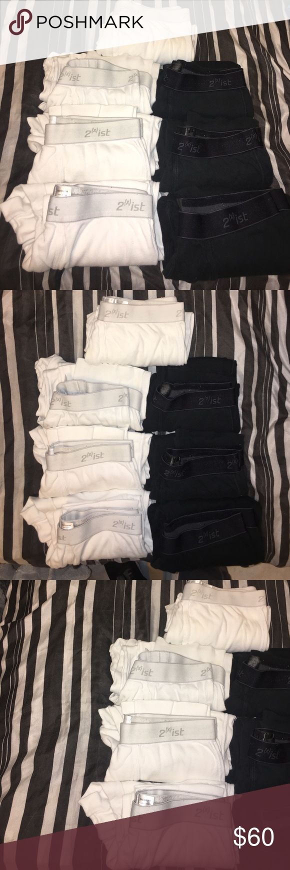 2 (x) Ist Brand Bottom 7 seven Thermals This are in great condtion. There are a few stains on the two White thermals and others are all in great condition. I used this during winter. They are all in Size Medium. You get 7 thermals listed 2xist Underwear & Socks