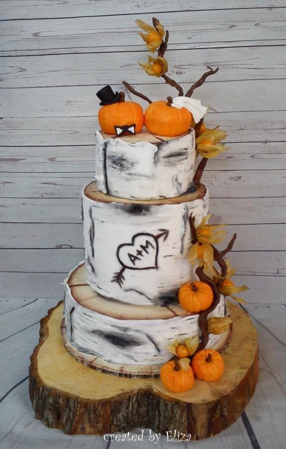 Autumn wedding cake by Eliza - http://cakesdecor.com/cakes/261262-autumn-wedding-cake