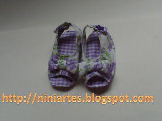Nini Artes: Molde sandália de bebê.
