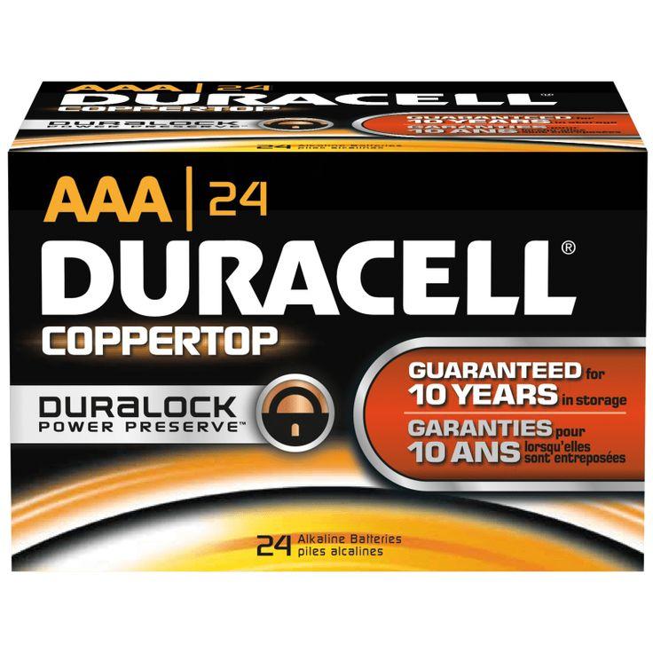 Duracell DMN2400BKD Alkaline battery, Battery sizes