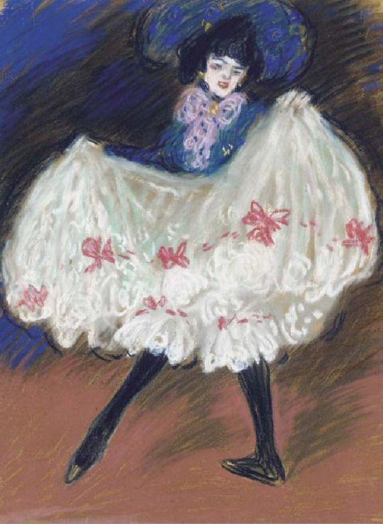 La danseuse (Cancan)   -   Pablo Picasso  1901  Spanish  1881-1973