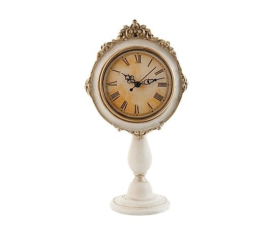 Часы - дерево - золотой - 16х10х28