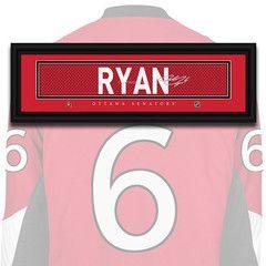 Ottawa Senators - Bobby Ryan - NHL Jersey Name Patch