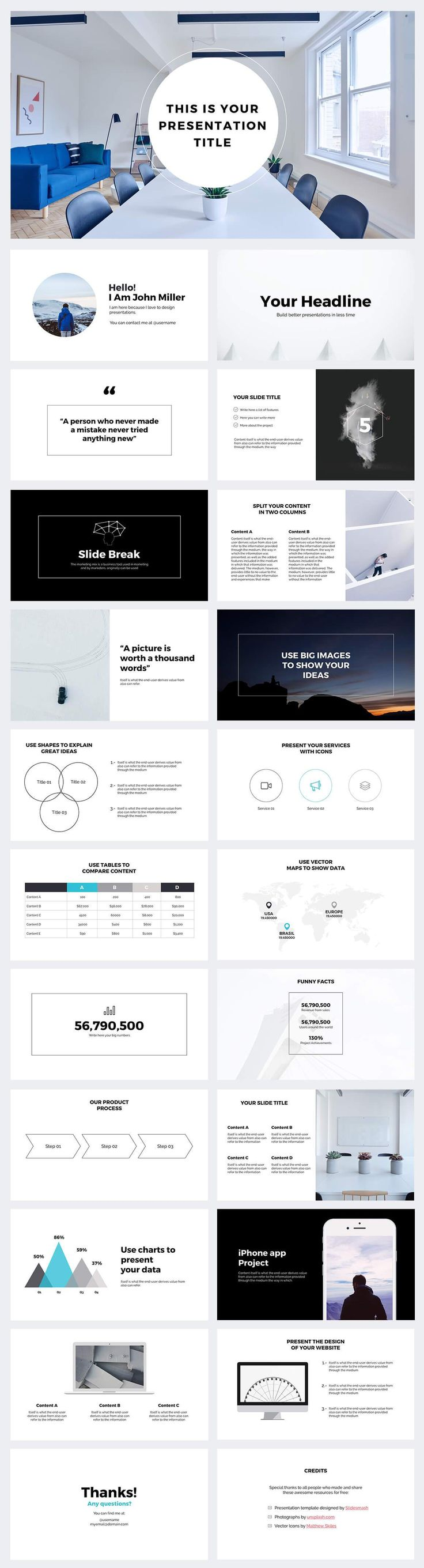 7 best free powerpoint templates on behance images on pinterest, Presentation templates