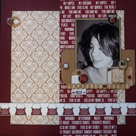 Captured Photo created by Teena Hopkins with Teresa Collin's Hello My Name Is collection for My Scrappin' Shop.