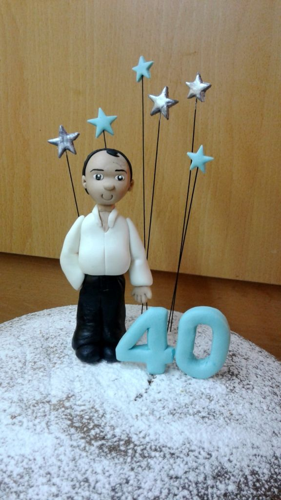 Custom made topper for a 40th birthday