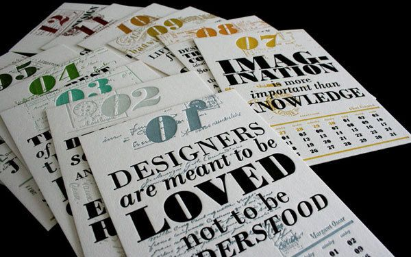 designers are meant to be loved.. not understood!!!    Calender Design