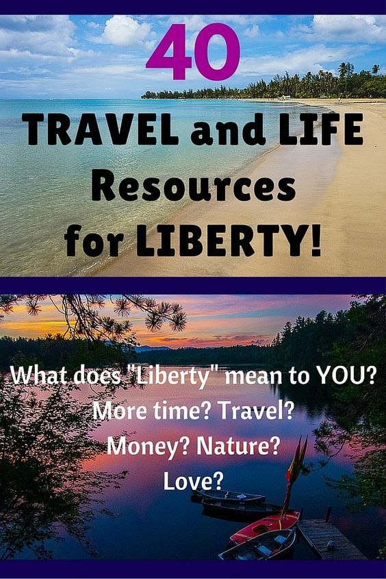 40 Travel and Life Resources for Liberty, including: How to find cheap flights, hotel deals, discount vacation, and services to make life at home easier, such as free diaper delivery for parents!