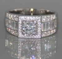 Wish | Elegant 925 Silver White Sapphire Natural stone Birthstone Gemstones Engagement Wedding Anniversary Bride Man Women Ring Size 6 7 8 9 10