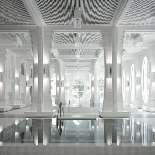 White Hot | Tamina thermal baths in Bad Ragaz, Switzerland | by Smolenicky & Partners