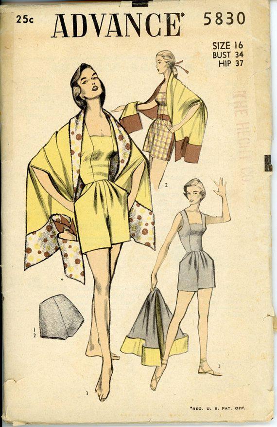 The 522 best Vintage Bathing Suits & Beachwear Patterns images on ...