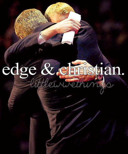 Adam Copeland and Jay Reso. Best friends since middle school, WWE tag team champions,edge and christian.
