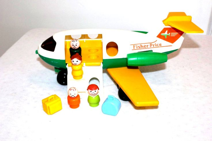 Vintage Fisher Price ##182 Little People Jetliner Airplane - 100% Complete by Barostores on Etsy