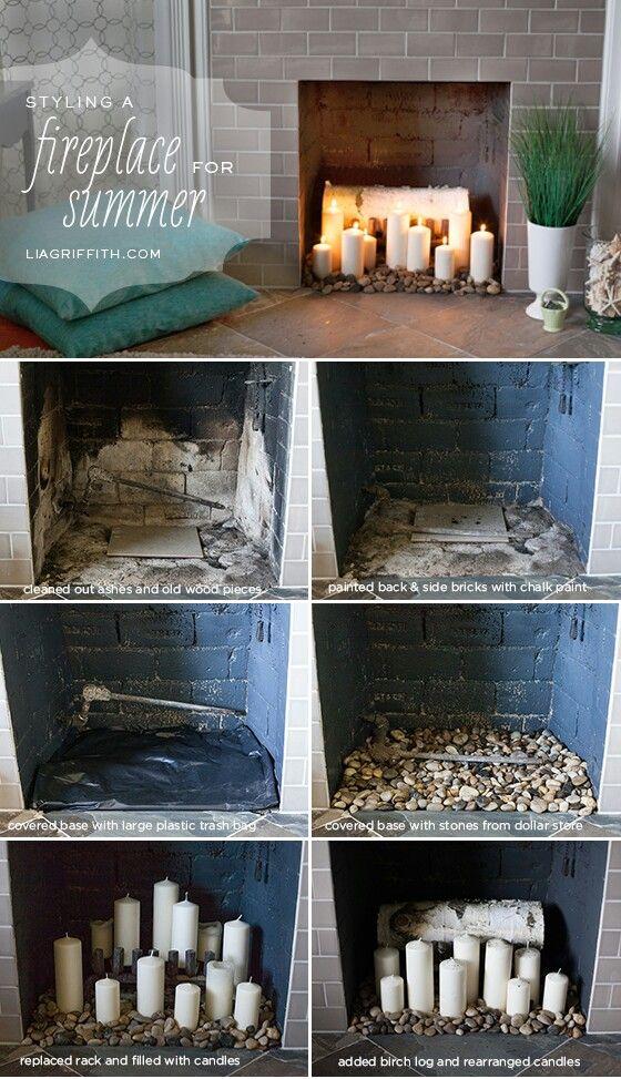 8 Best Fireplace Summer Filler Ideas Images On Pinterest