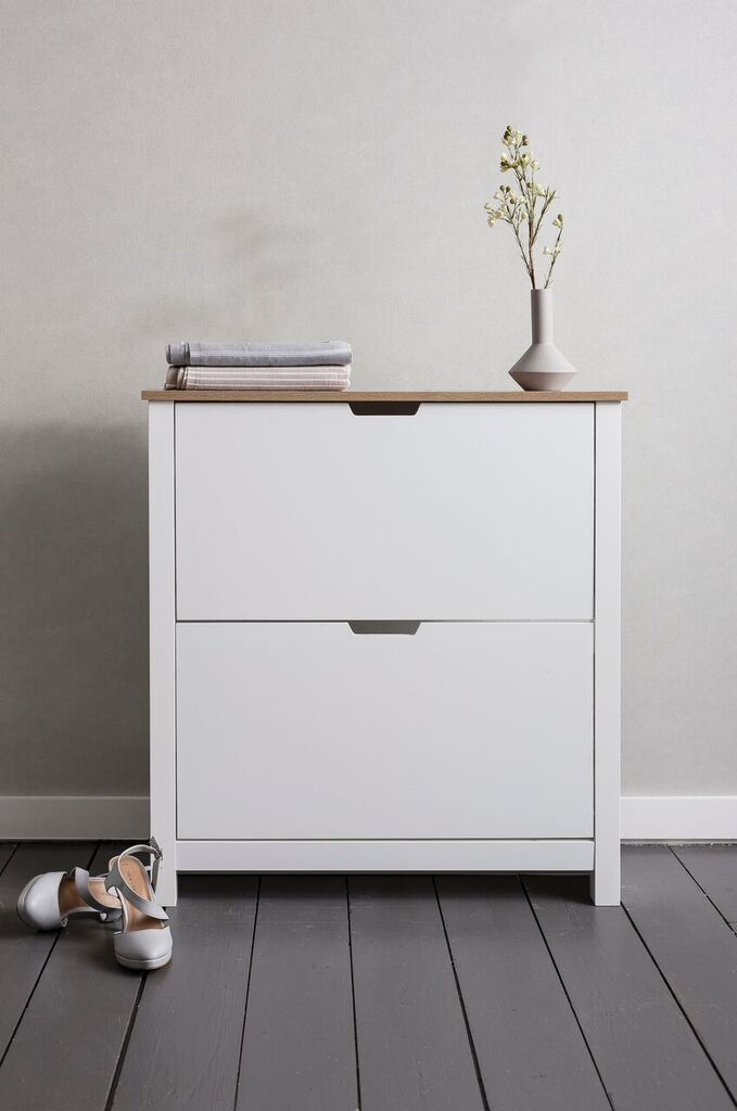 Noa And Nani Tromso Shoe Storage Unit In White Shoe Cabinet | £99.99 | # Part 73