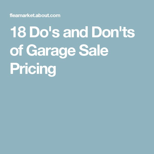 18 Do's and Don'ts of Garage Sale Pricing