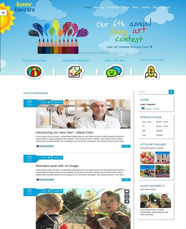 Daycare - Kindergarden School WordPress Theme