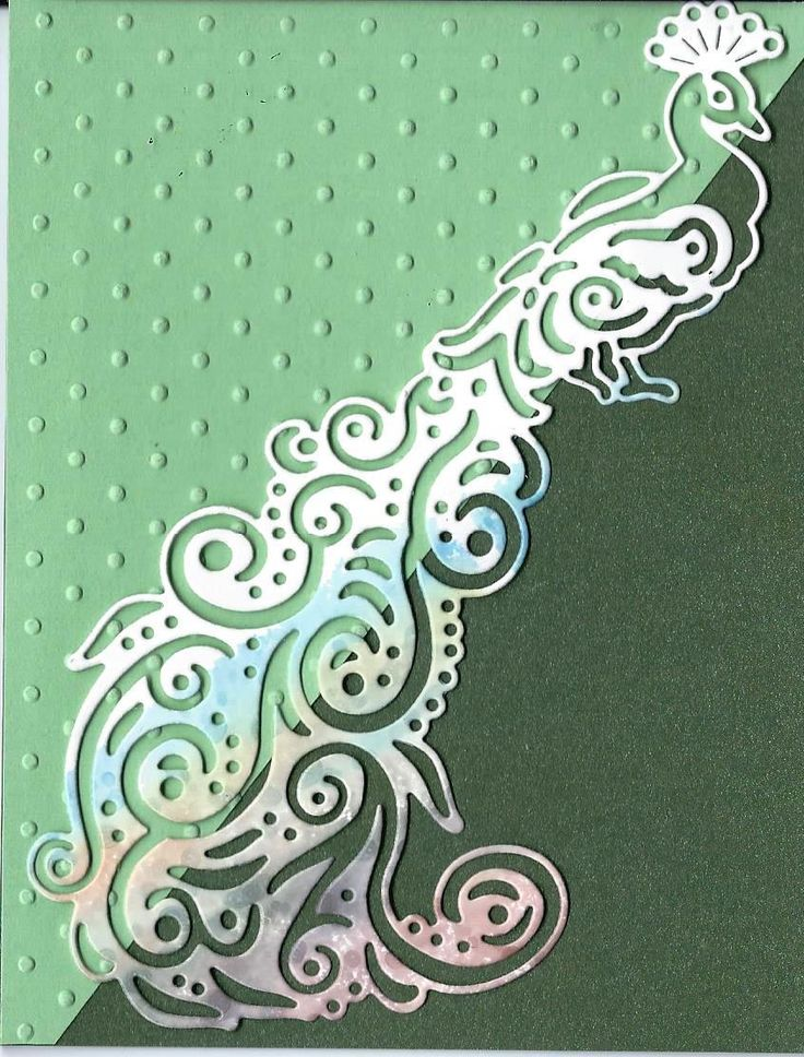 Peacock Swirl by Tattered Lace Dies. Card designed and submitted by Susan Magie.